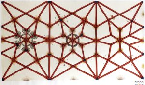 Rekonstruktionszeichnung der Gewölbemalerei nach tatsächlichem Befund